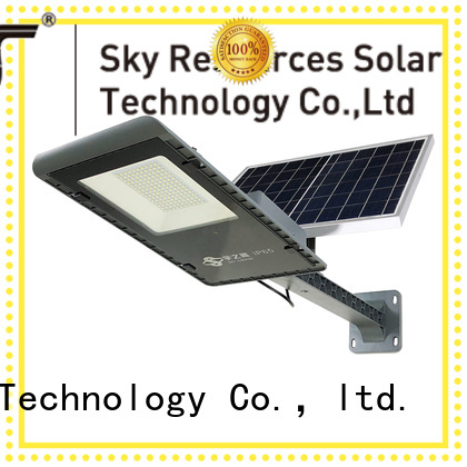 SRS wholesale solar led street light configuration for fence post