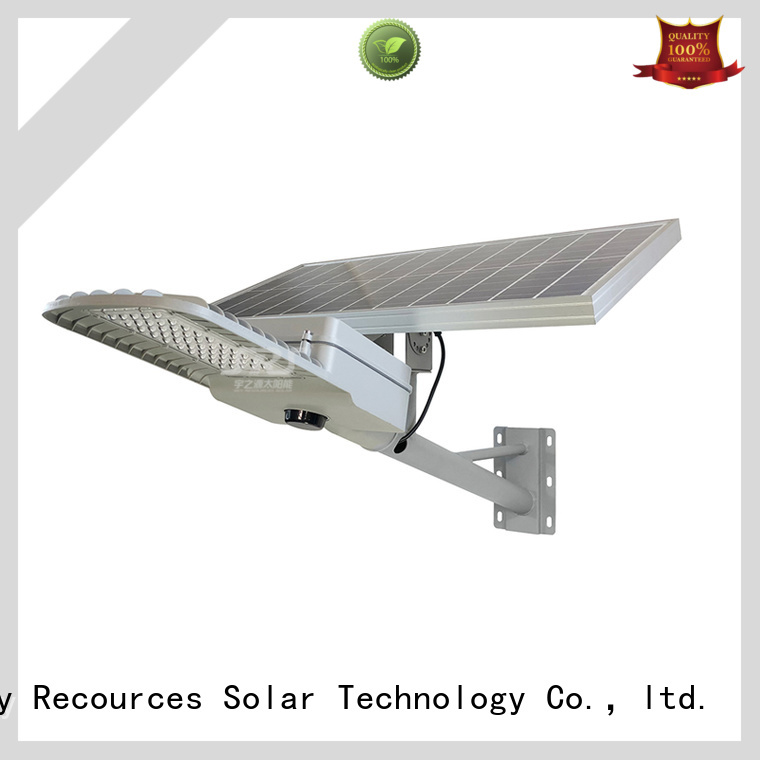 SRS install solar street light with panel and battery specification for flagpole