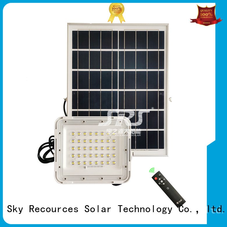 SRS ip65 solar powered flood lights motion sensor project for outside