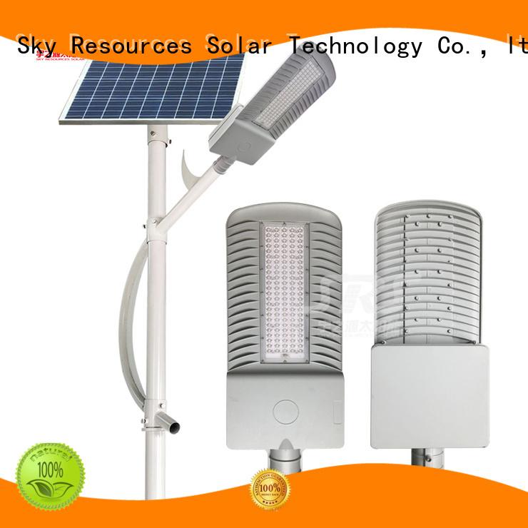 SRS one 40 watt solar street light diagram for fence post