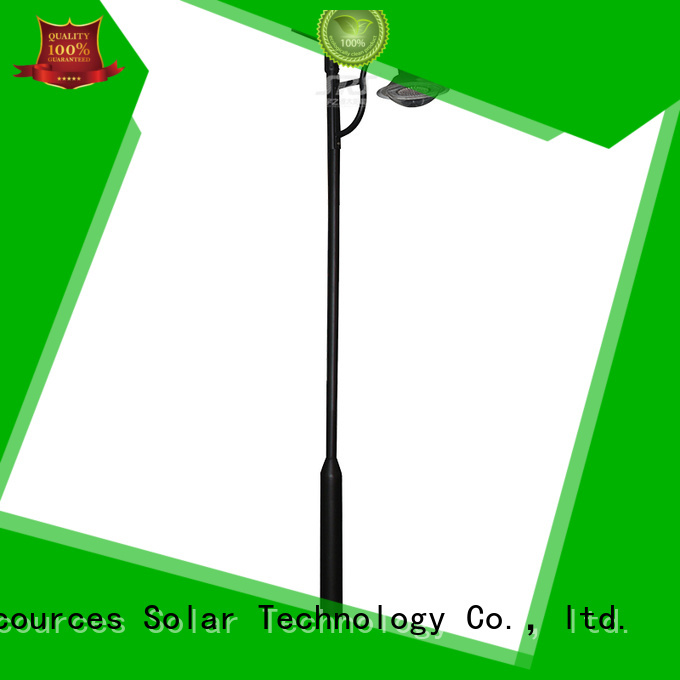 SRS integrating solar panel garden lights uses for shady areas