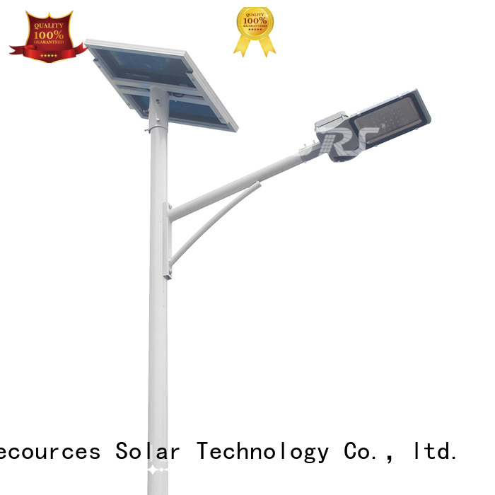 SRS solar street light with panel and battery configuration for flagpole