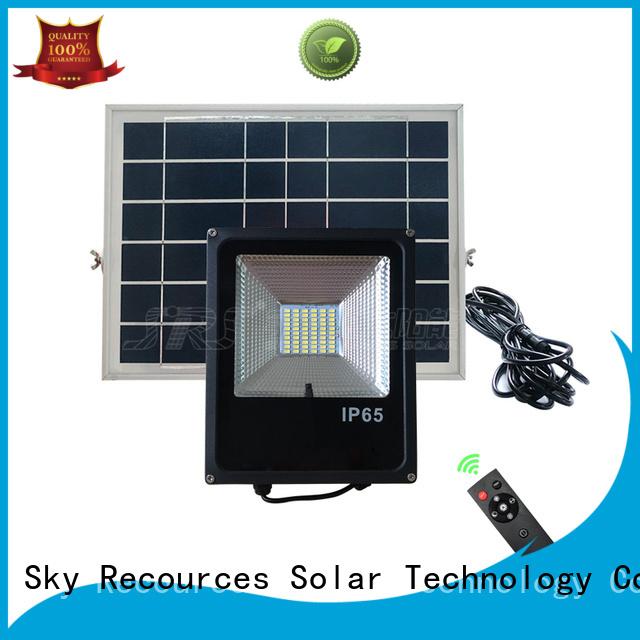 SRS advantages of brightest solar flood lights outdoor certification for village