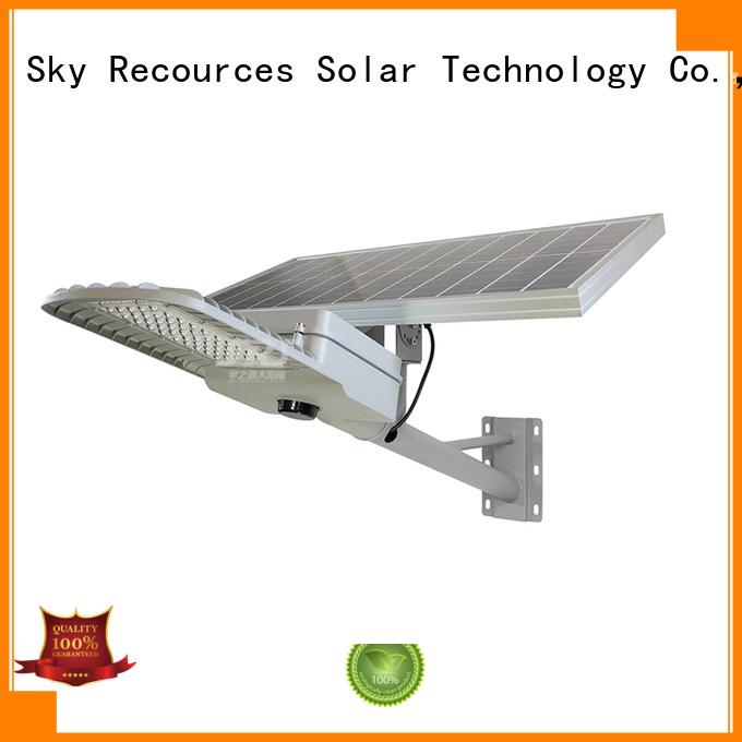 SRS fix 100 watt solar street light for flagpole