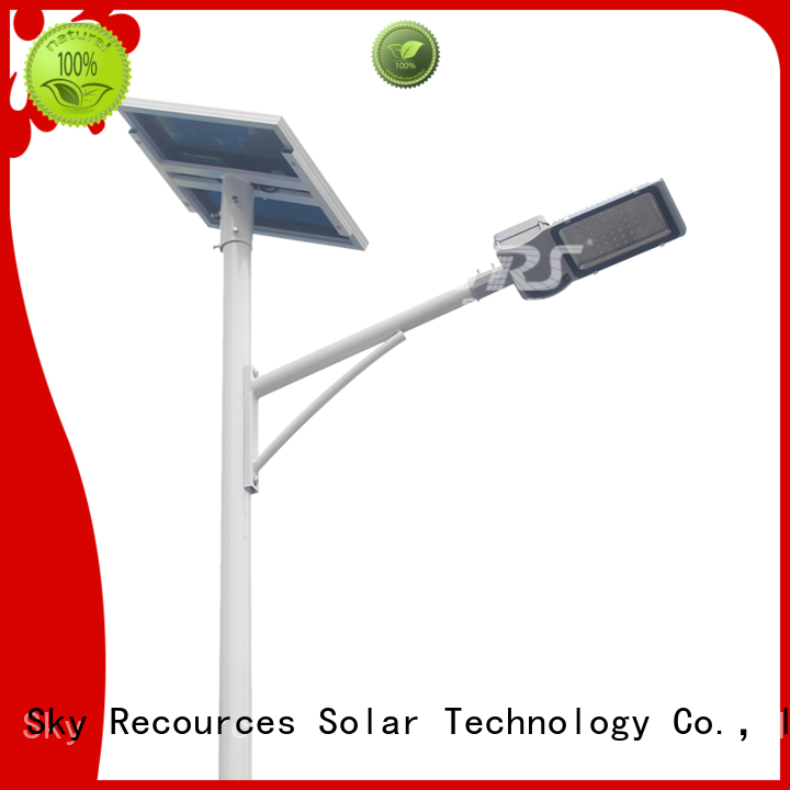 SRS cheap solar street light set configuration for fence post