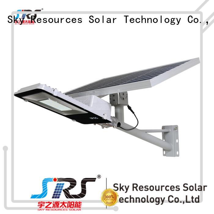 install 50w solar street light integrated configuration for garden