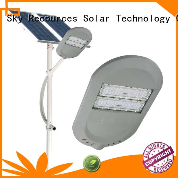 SRS solar street light post manufaturer for outside