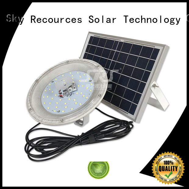 SRS solar flood lamp with good price for village