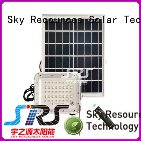SRS smart solar led sensor floodlight certification for outside