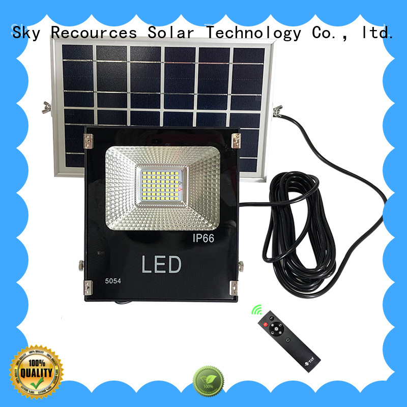 SRS bifacial solar led flood lights certification‎ for village