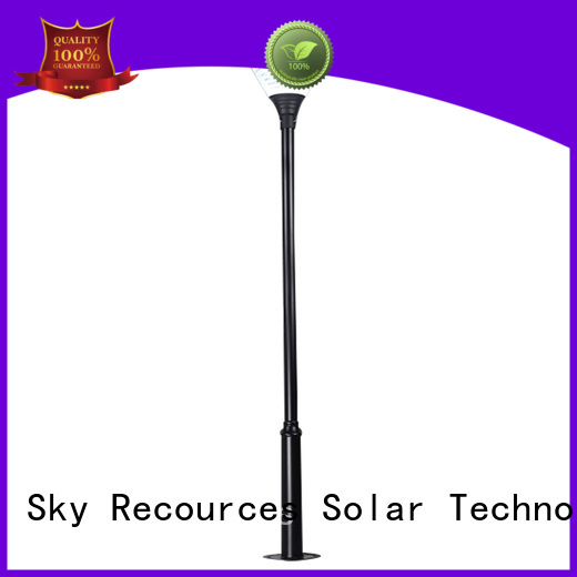 SRS high quality solar panel garden lights make in China for shady areas