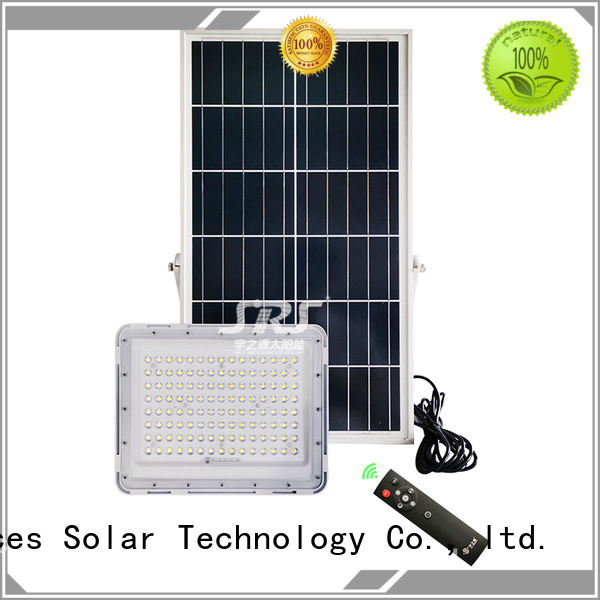 SRS bifacial solar powered flood lights project for village
