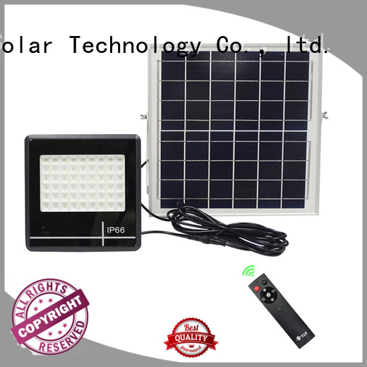 SRS smart commercial solar powered flood lights with good price for outside