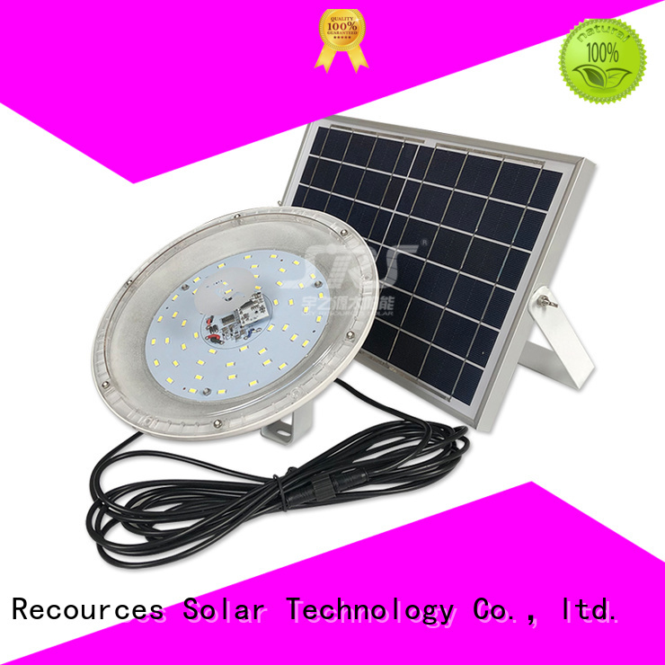 SRS bifacial high powered solar flood lights for outside