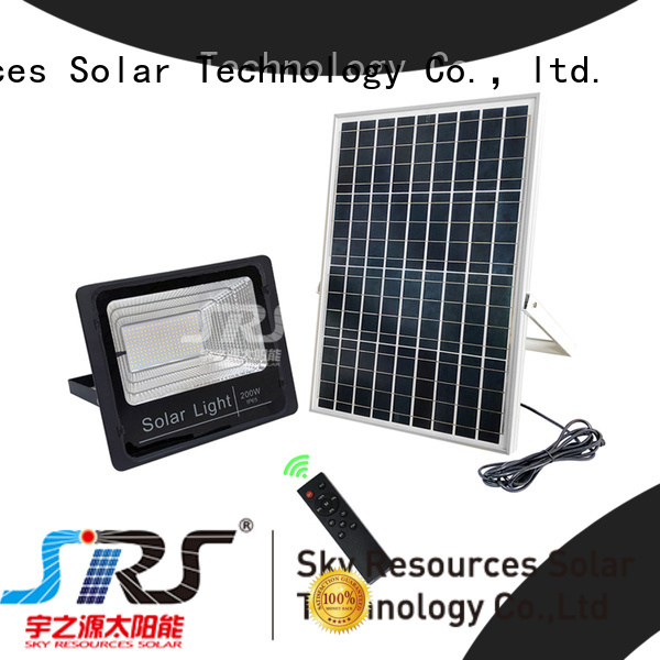 solar powered flood lights project for home use SRS