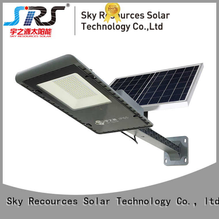 SRS luminous solar street light configuration for fence post