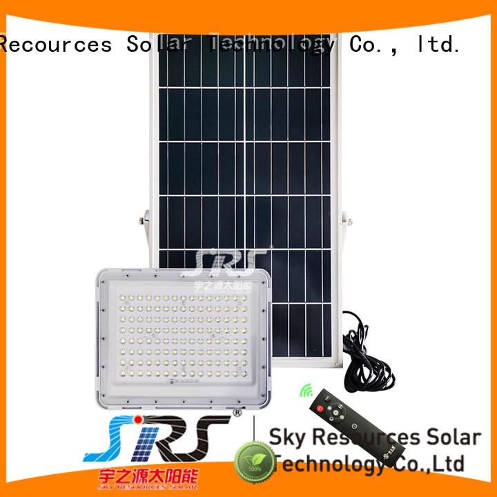 SRS solar led sensor floodlight certification for outside