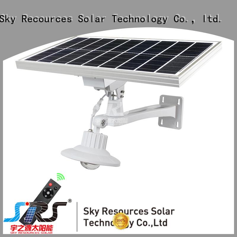 SRS solar light manufacturer specification for fence post