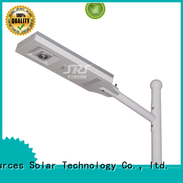 SRS smart remote control solar street light kit on sale for school