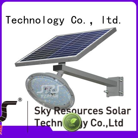 SRS bifacial solar led lights manufacturers configuration for school