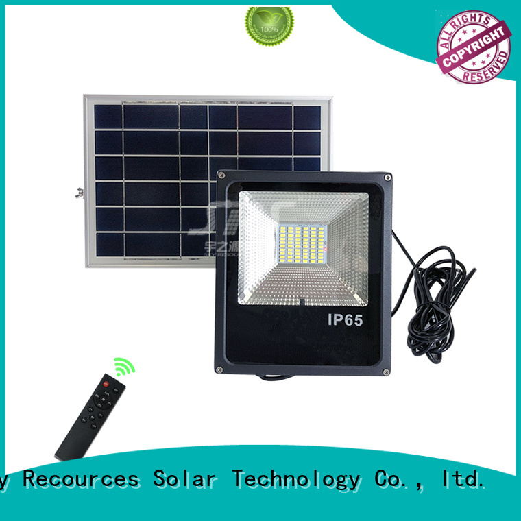 SRS solar powered flood lights project for outside