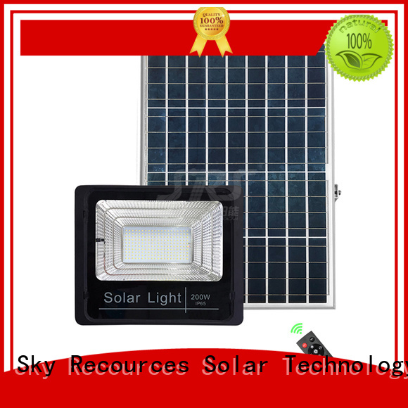 bifacial commercial solar flood lights project for village