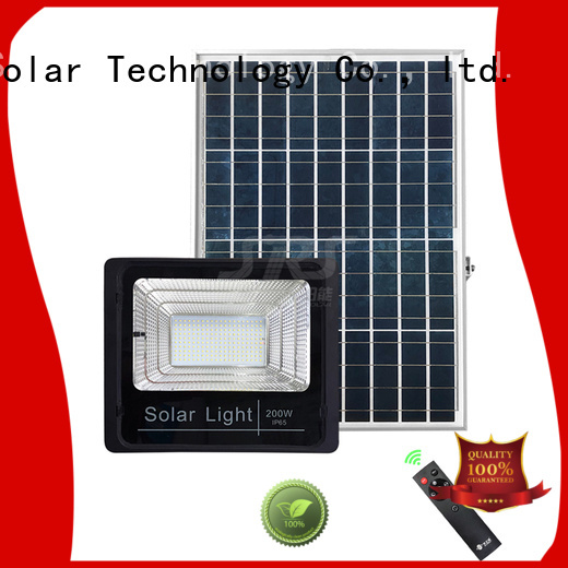 integrated solar led motion flood light project for village
