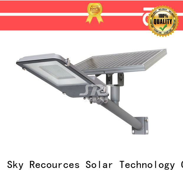 SRS wholesale solar led street light price list for fence post