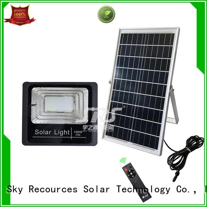 SRS smart cheap solar flood lights series for village
