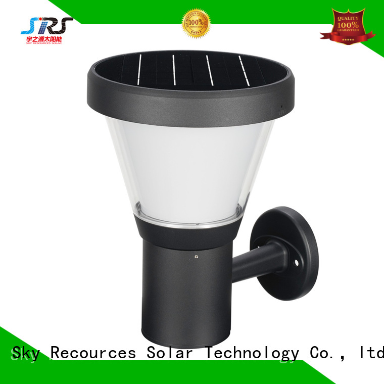 SRS integrated solar led lawn lights details for posts