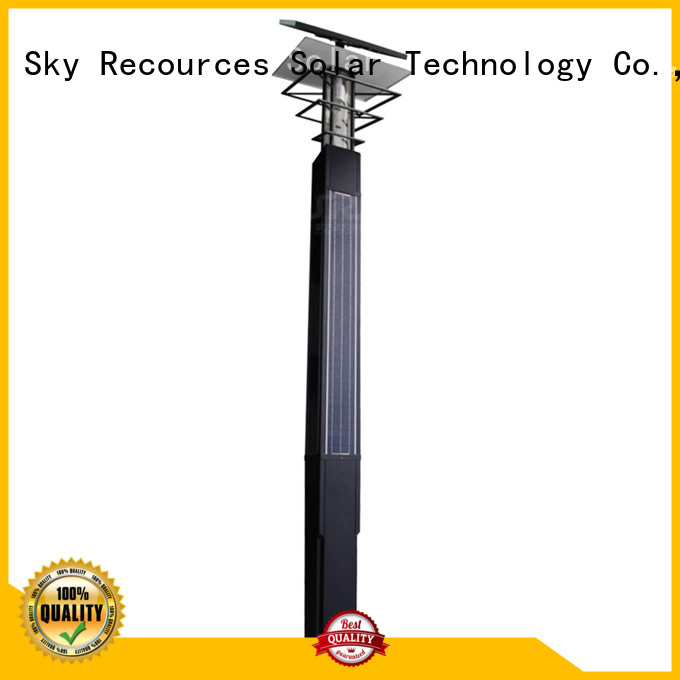 SRS smart solar powered garden lights uses for shady areas