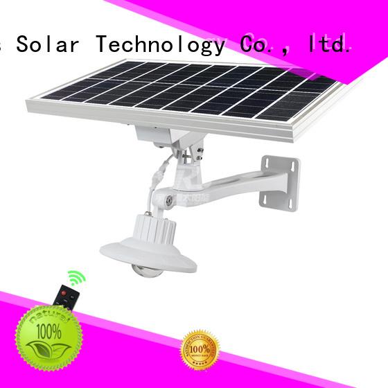 integrated solar led street light for fence post SRS