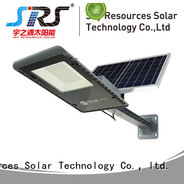 SRS integrated solar led street light configuration for school
