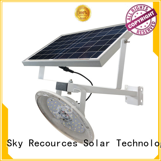 SRS bifacial solar compound lights configuration for flagpole