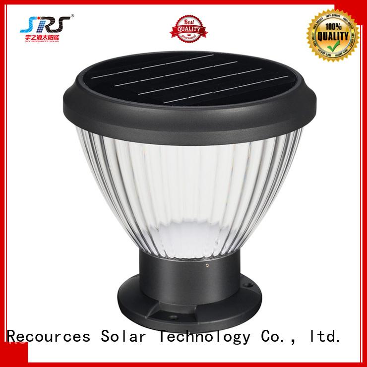SRS solar patio lantern lights manufaturer for posts