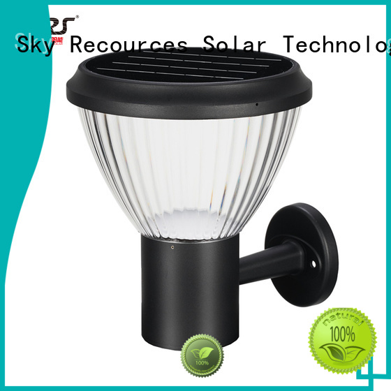 SRS solar lawn lamps system for posts