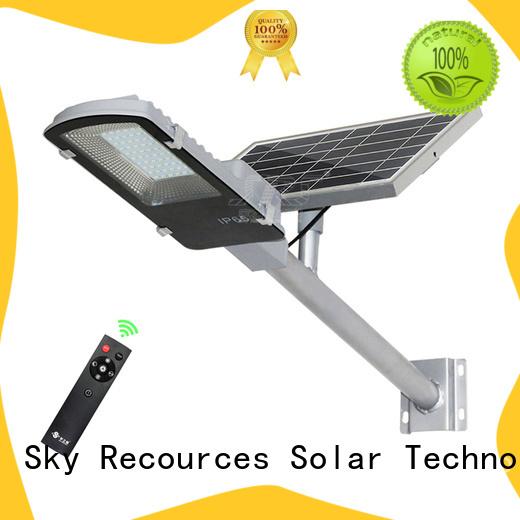 SRS install semi-integrated solar street light diagram for school