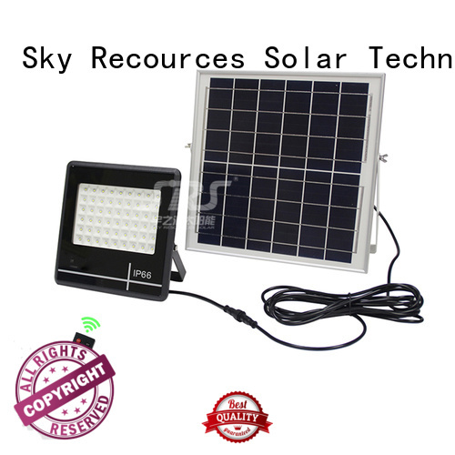 advantages of solar powered led flood light with good price for village