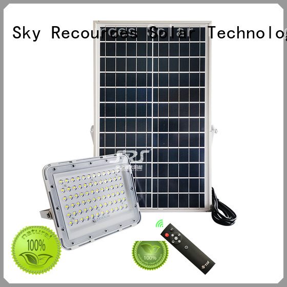advantages of solar flood lamp project for village