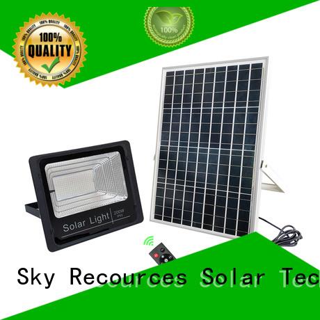 SRS integrated solar sensor garden lights for village
