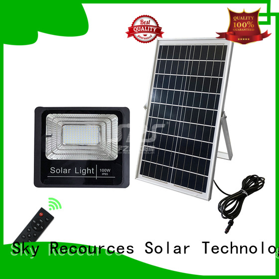 SRS advantages of high powered solar flood lights for village