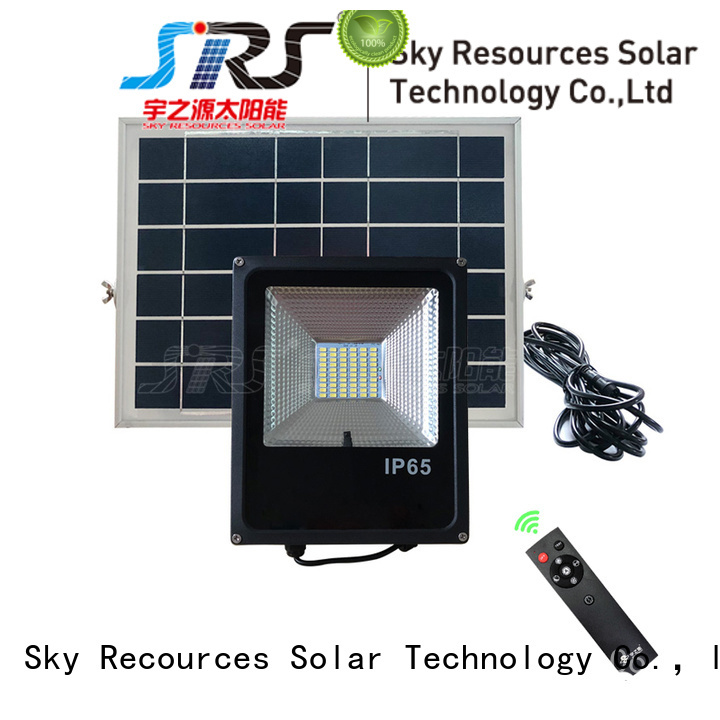 SRS smart led solar flood lights outdoor series for village