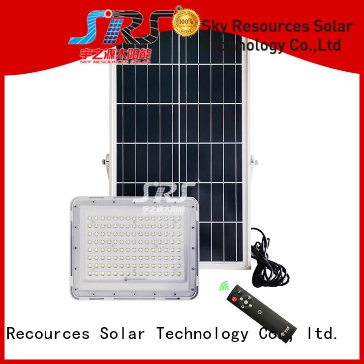 SRS smart solar powered outdoor flood lights project for village